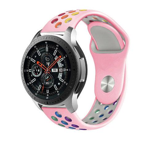Strap-it® Strap-it® Samsung Galaxy Watch sport band 45mm / 46mm (roze kleurrijk)