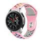 Strap-it® Samsung Galaxy Watch sport band 45mm / 46mm (roze kleurrijk)