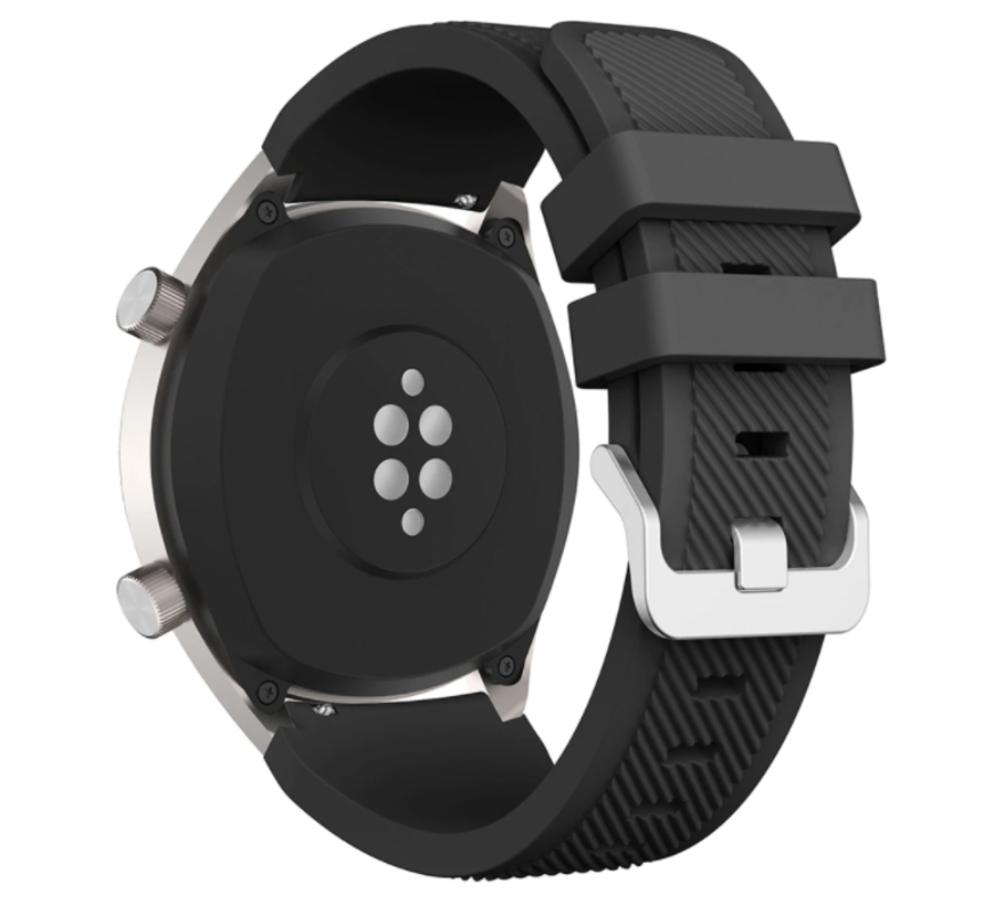 Strap-it® Honor Magic Watch 2 siliconen bandje (zwart)