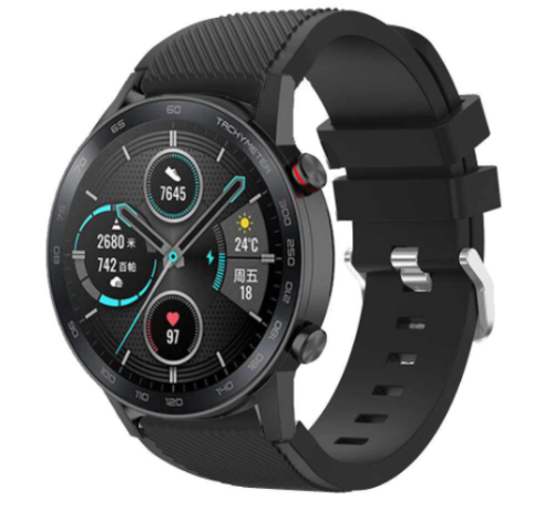 Strap-it® Strap-it® Honor Magic Watch 2 siliconen bandje (zwart)