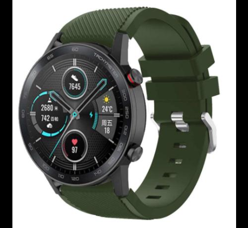 Strap-it® Strap-it® Honor Magic Watch 2 siliconen bandje (legergroen)