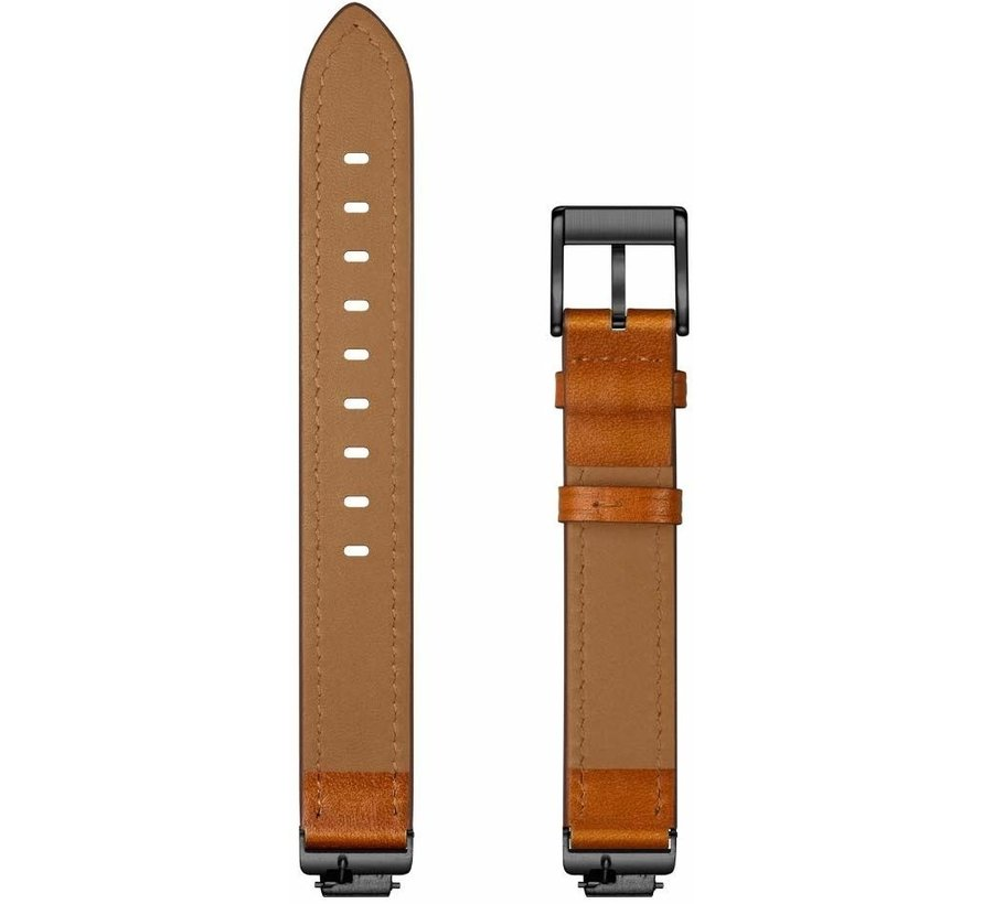 Strap-it® Fitbit Inspire / Inspire HR / Inspire 2 leren bandje (bruin)