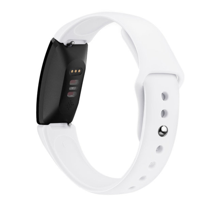 Strap-it® Fitbit Inspire 2 silicone band (wit)