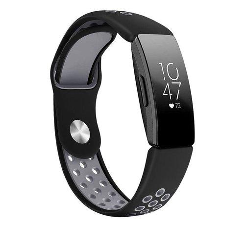 Strap-it® Strap-it® Fitbit Inspire 2 sport band (zwart/grijs)