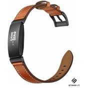 Fitbit Inspire / Inspire HR / Inspire 2 leren bandje (bruin)