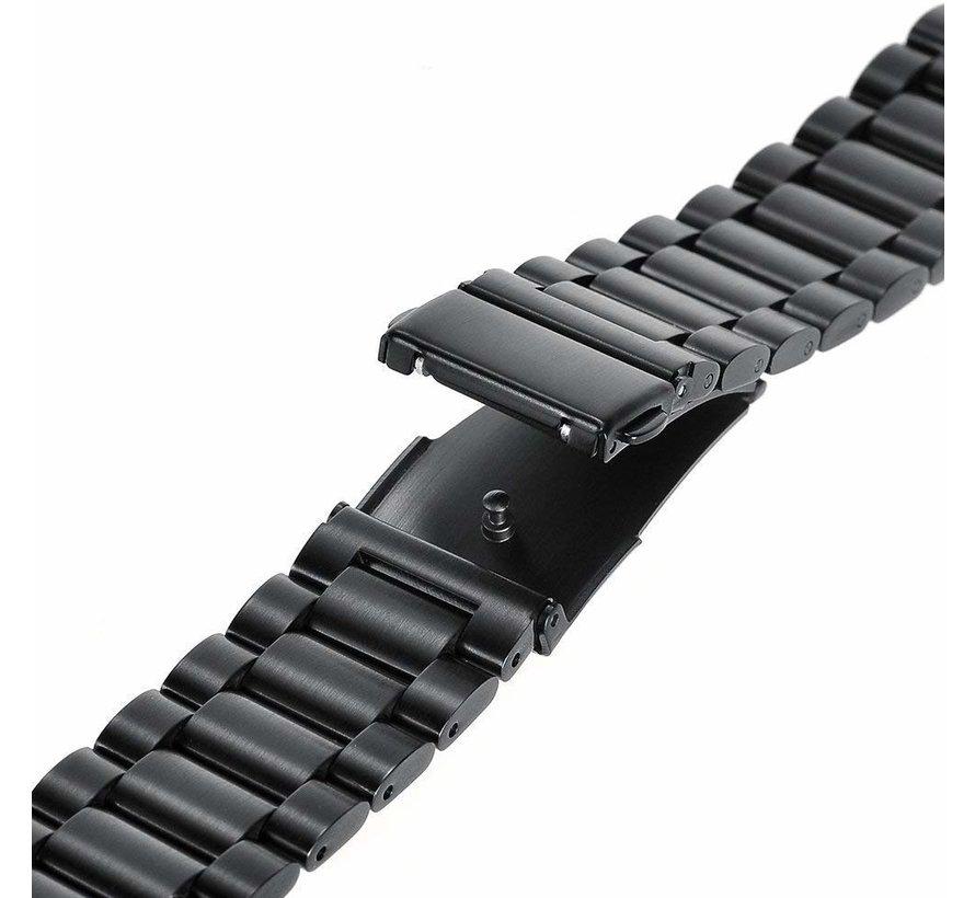 Strap-it® Samsung Galaxy Watch 3 stalen band 45mm (zwart)