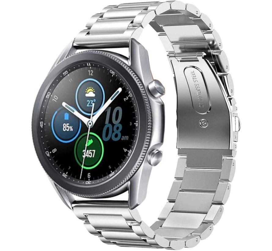 Strap-it® Samsung Galaxy Watch 3 stalen band 45mm (zilver)