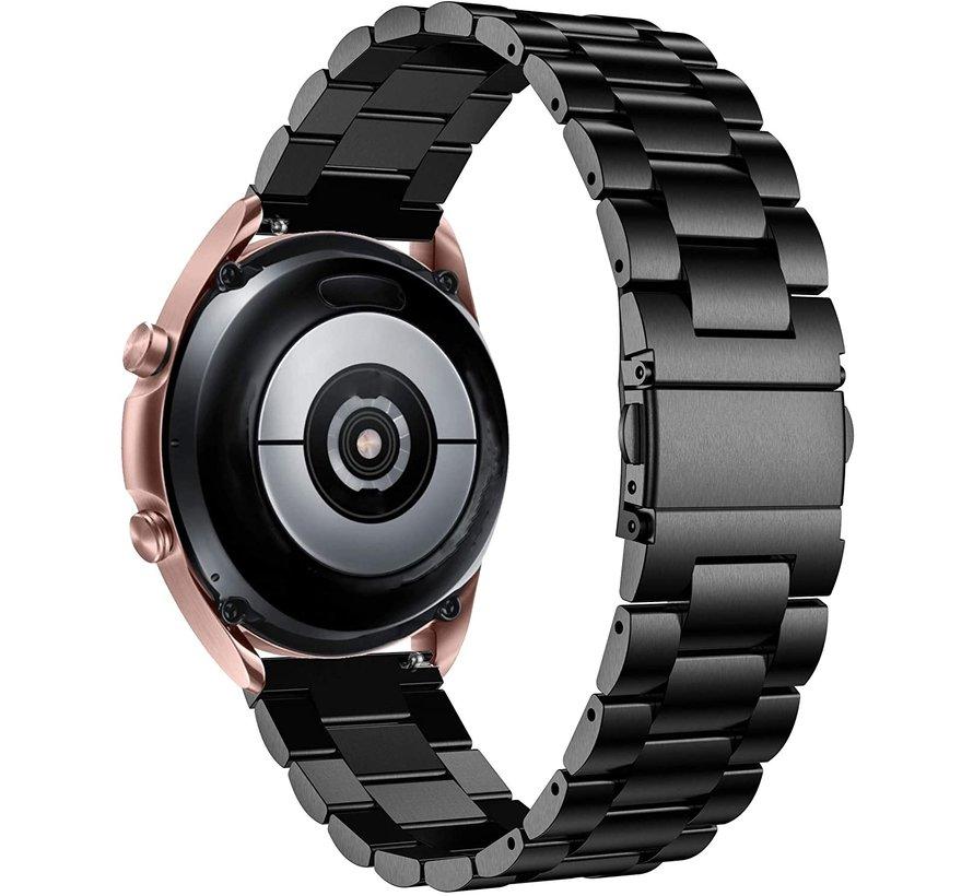 Strap-it® Samsung Galaxy Watch 3 stalen band 41mm (zwart)