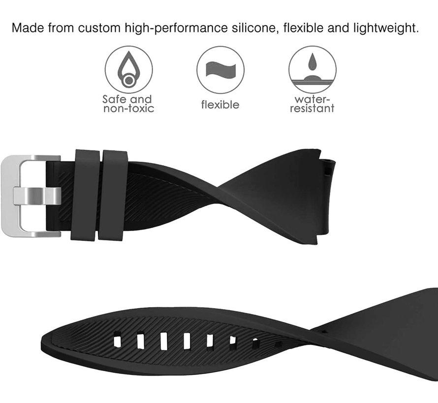 Strap-it® Samsung Galaxy Watch 3 45mm siliconen bandje (zwart)