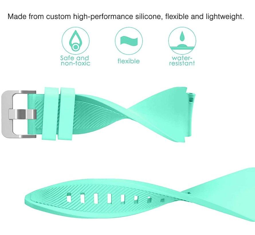 Strap-it® Samsung Galaxy Watch 3 45mm siliconen bandje (aqua)