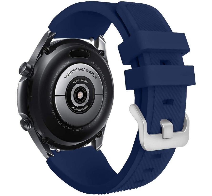 Strap-it® Samsung Galaxy Watch 3 45mm siliconen bandje (donkerblauw)