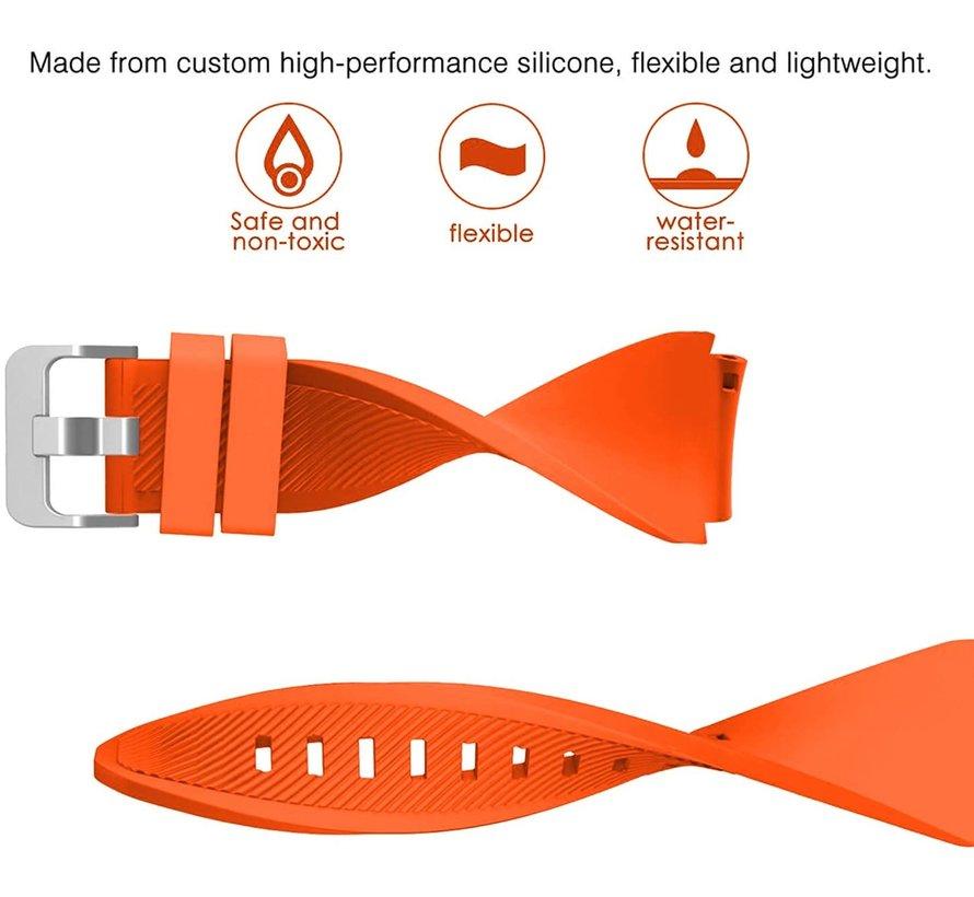 Strap-it® Samsung Galaxy Watch 3 45mm siliconen bandje (oranje)