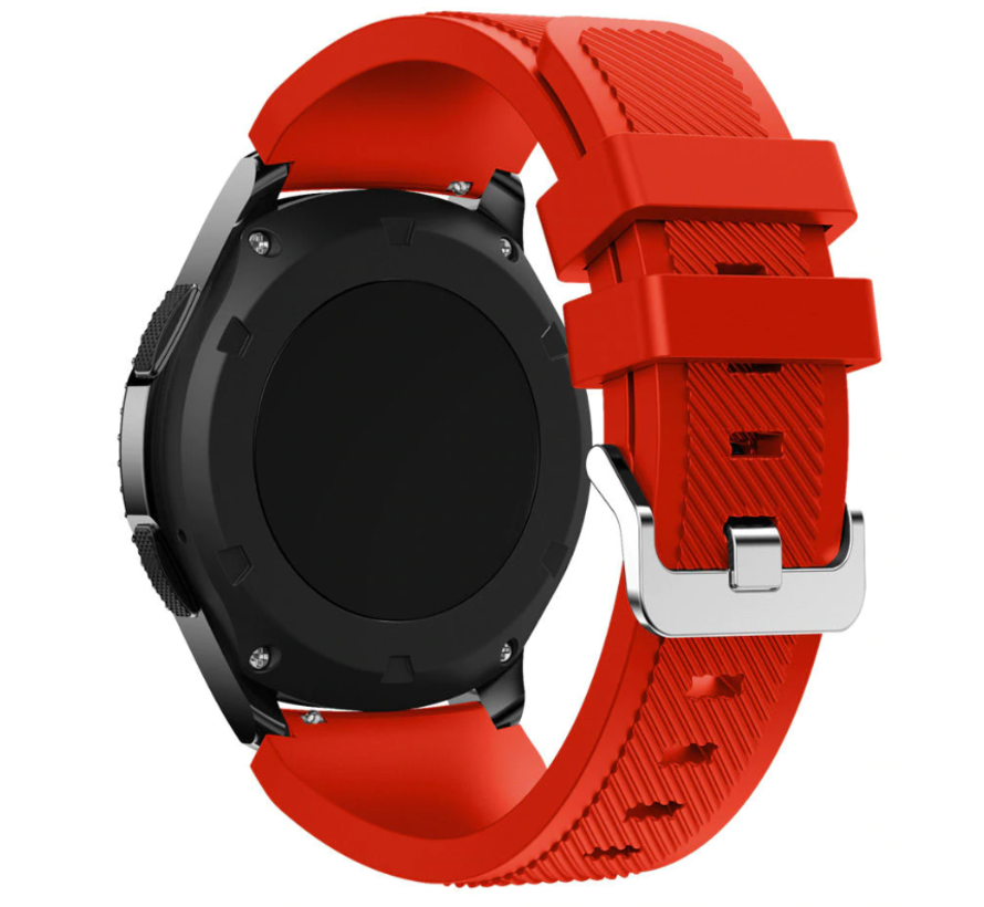 Strap-it® Samsung Galaxy Watch 3 45mm siliconen bandje (rood)