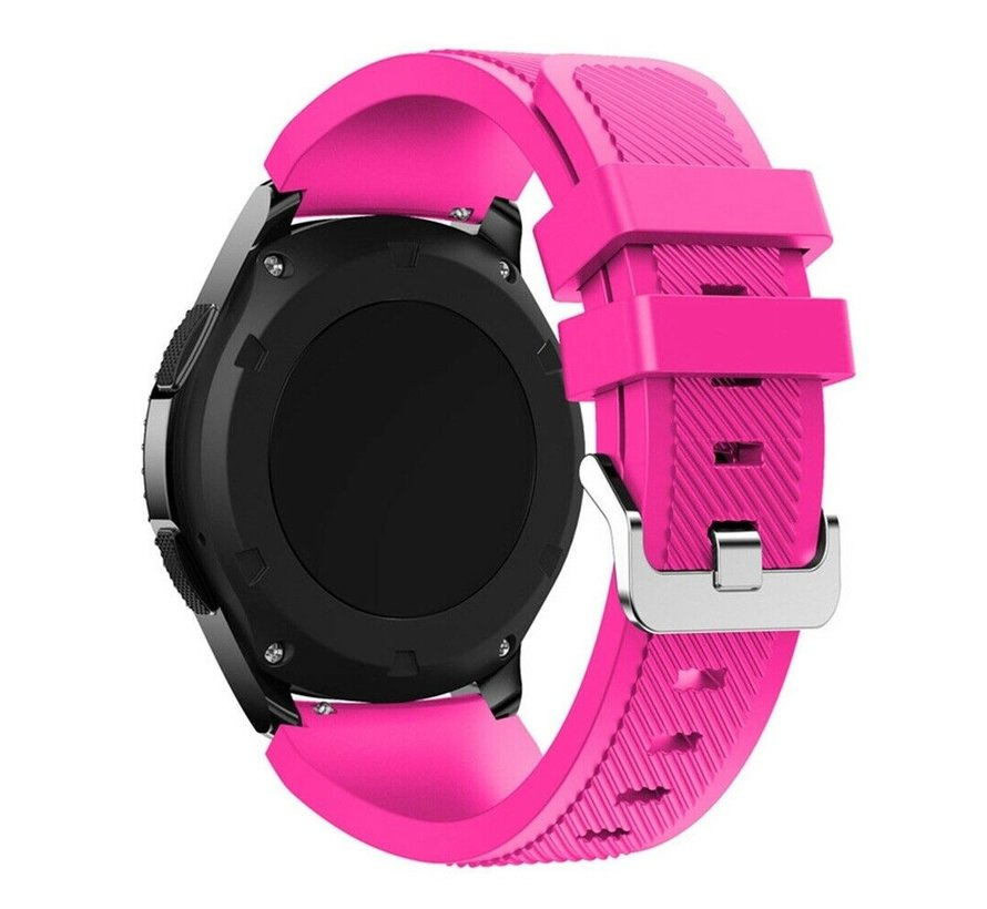 Strap-it® Samsung Galaxy Watch 3 45mm siliconen bandje (knalroze)