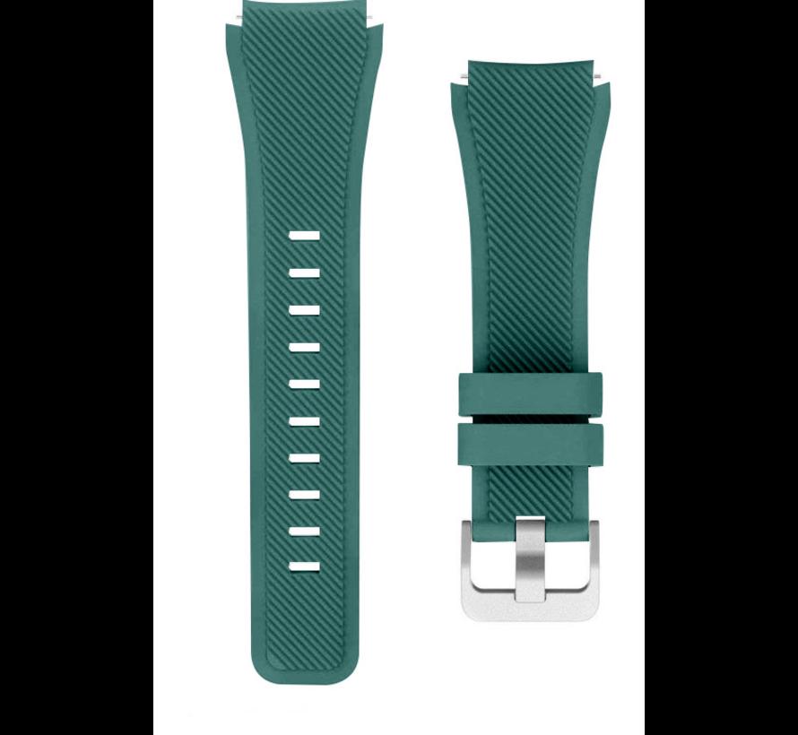 Strap-it® Samsung Galaxy Watch 3 45mm siliconen bandje (dennengroen)
