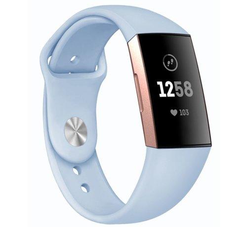 Strap-it® Strap-it® Fitbit Charge 3 sport bandje (lichtblauw)