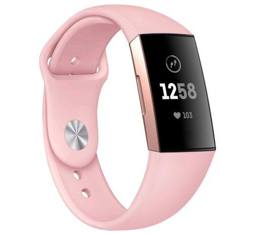Strap-it® Strap-it® Fitbit Charge 3 sport bandje (roze)