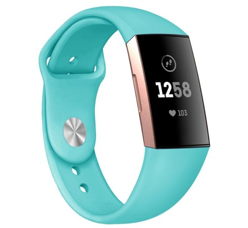 Strap-it® Strap-it® Fitbit Charge 3 sport bandje (aqua)