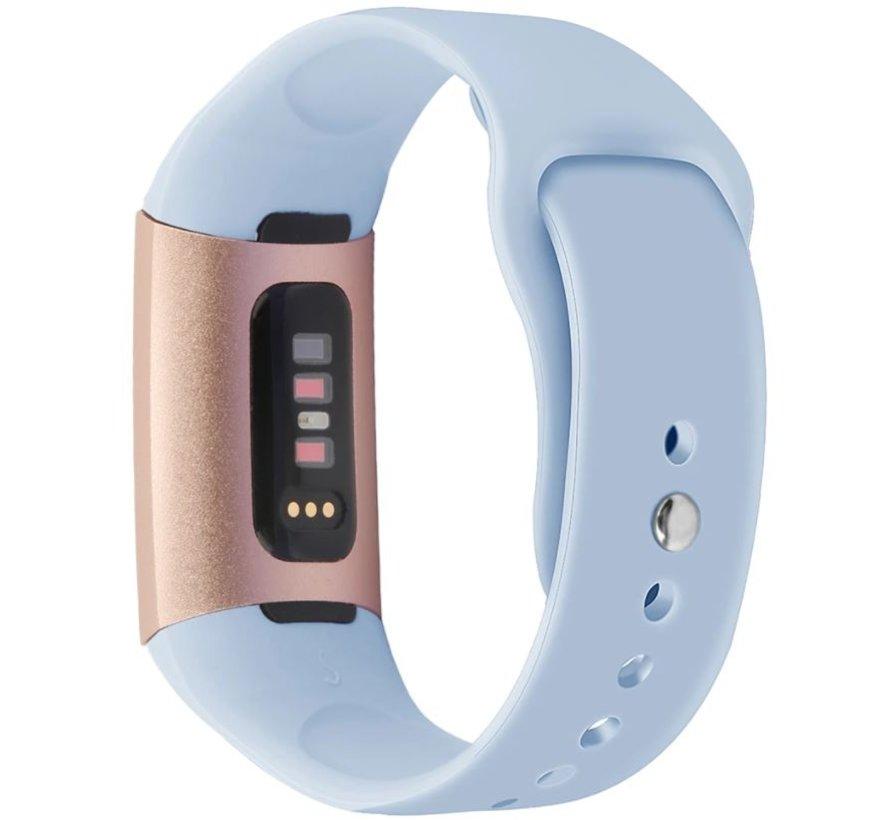 Strap-it® Fitbit Charge 3 sport bandje (lichtblauw)