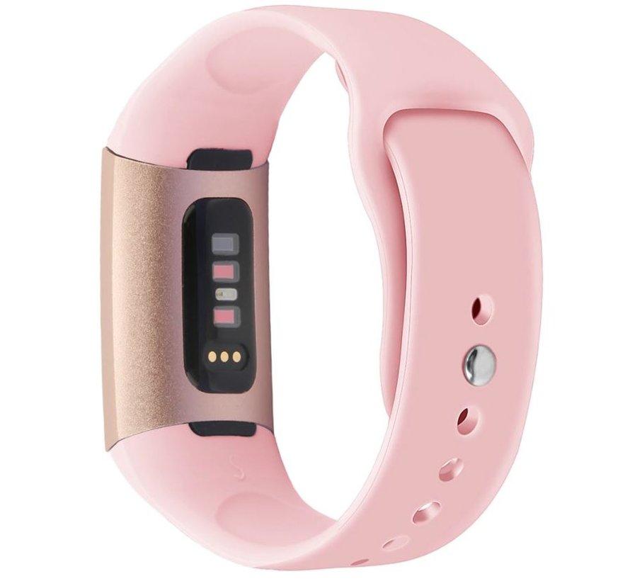 Strap-it® Fitbit Charge 3 sport bandje (roze)