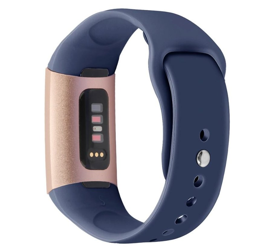 Strap-it® Fitbit Charge 4 sportband (donkerblauw)