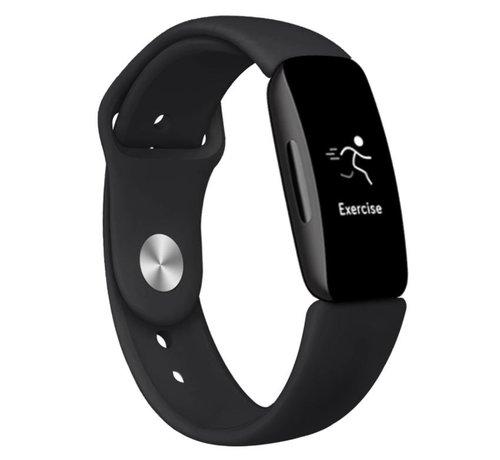 Strap-it® Strap-it® Fitbit Inspire 2 silicone band (zwart)