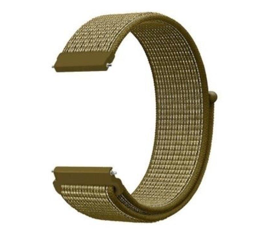 Strap-it® Samsung Galaxy Watch 3 - 45mm nylon band (olijf)