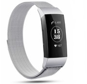 Strap-it® Fitbit Charge 4 Milanese band (zilver)