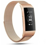 Strap-it® Fitbit Charge 4 Milanese band (rosé goud)