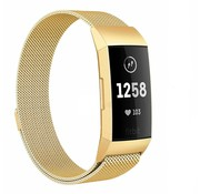 Strap-it® Fitbit Charge 4 Milanese band (goud)