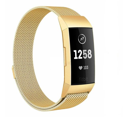 Strap-it® Strap-it® Fitbit Charge 4 Milanese band (goud)