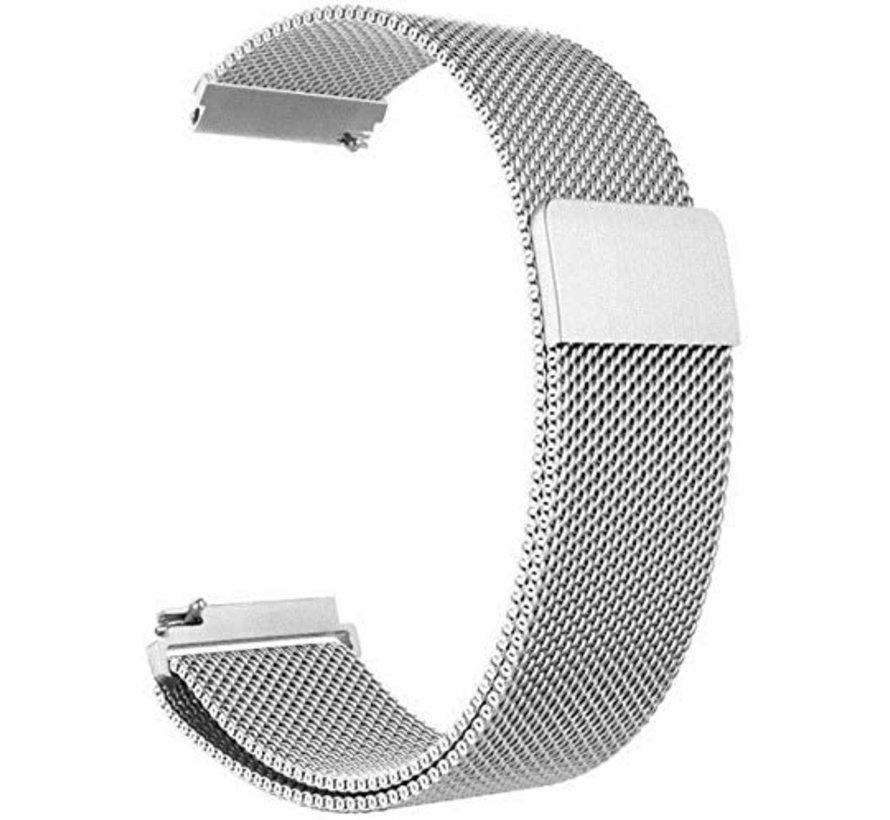 Strap-it® Samsung Galaxy Watch 3 Milanese band 45mm (zilver)
