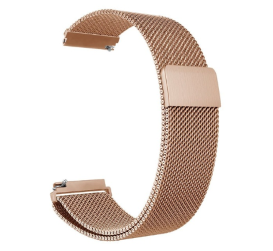 Strap-it® Samsung Galaxy Watch 3 Milanese band 45mm (rosé goud)