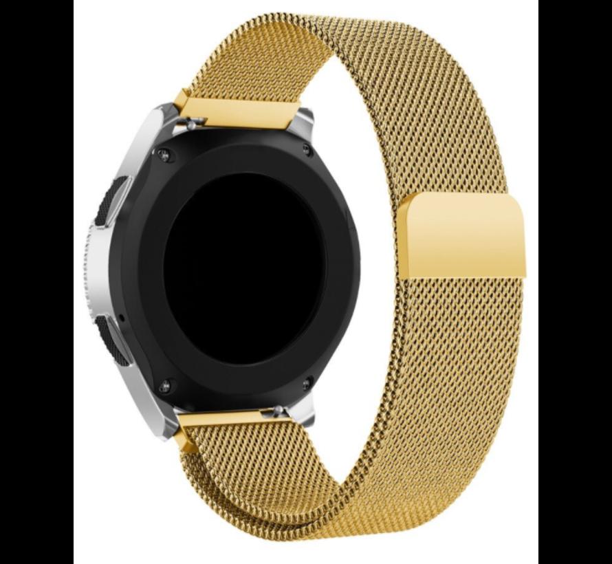 Strap-it® Samsung Galaxy Watch 3 Milanese band 45mm (goud)