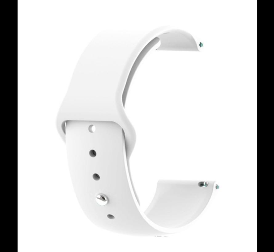 Strap-it® Samsung Galaxy Watch 3 sport band 45mm (wit)