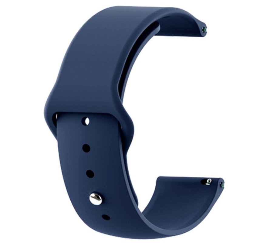 Strap-it® Samsung Galaxy Watch 3 sport band 45mm (donkerblauw)