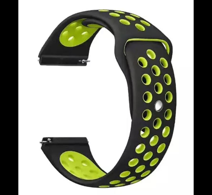 Strap-it® Samsung Galaxy Watch 3 sport band 45mm (zwart/geel)