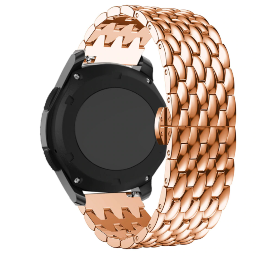 Strap-it® Samsung Galaxy Watch 3 - 45mm stalen draak band (rosé goud)
