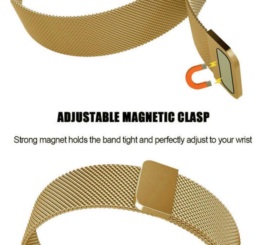 Strap-it® Fitbit Versa 3 Milanese band (goud)