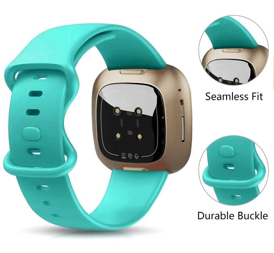 Strap-it® Fitbit Sense siliconen bandje (aqua)