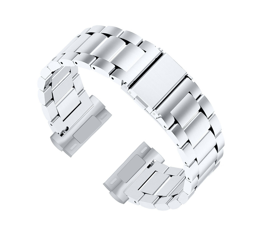 Strap-it® Fitbit Sense stalen band (zilver)