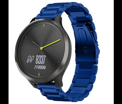 Strap-it® Strap-it® Garmin Vivomove HR stalen band (blauw)