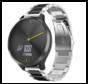 Strap-it® Garmin Vivomove HR stalen band (zilver/zwart)