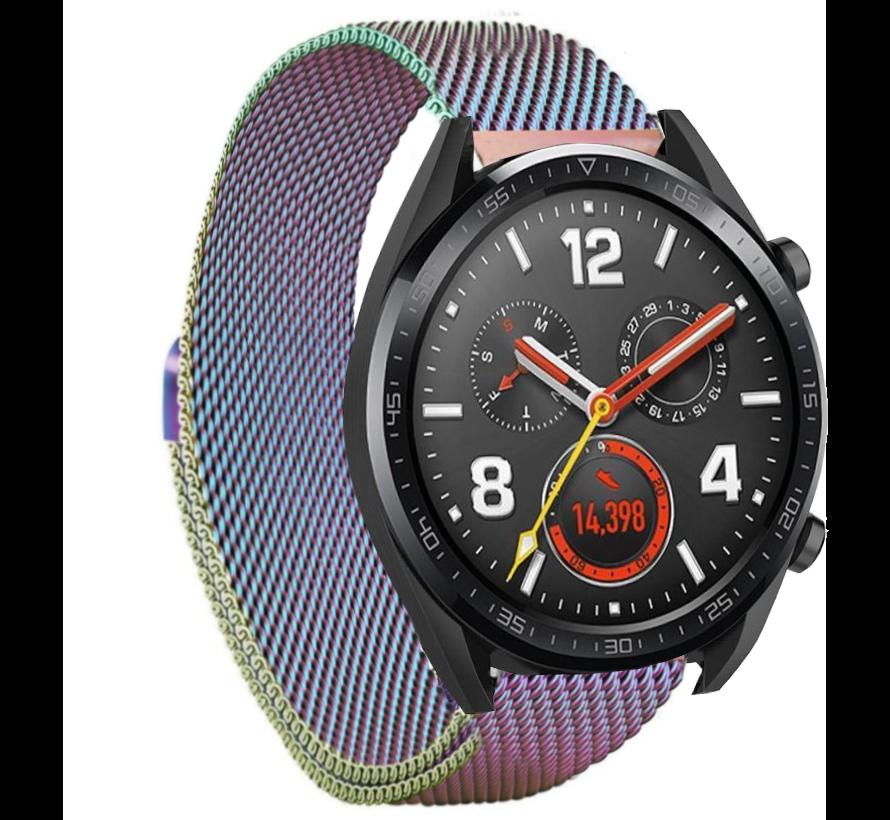 Strap-it® Huawei Watch GT Milanese band (regenboog)