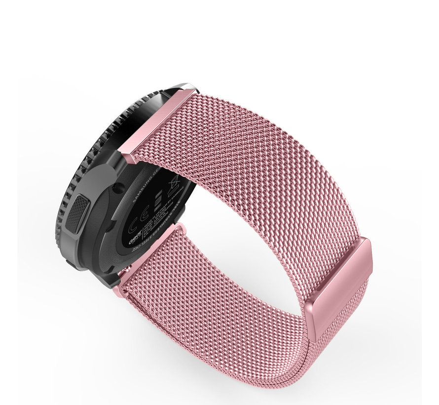 Strap-it® Samsung Galaxy Watch 3 Milanese band 45mm (roze)