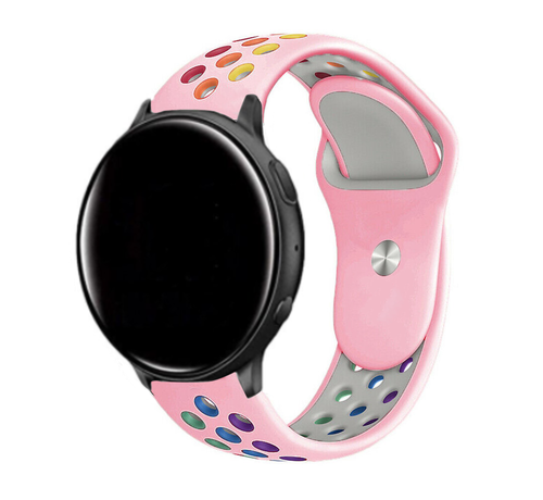 Strap-it® Strap-it® Garmin Vivoactive 3 sport band (roze kleurrijk)