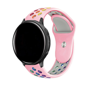 Strap-it® Garmin Vivoactive 4 sport band - 45mm -roze/kleurrijk
