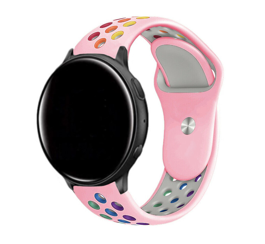 Strap-it® Garmin Vivoactive 4 sport band - 45mm - roze/kleurrijk