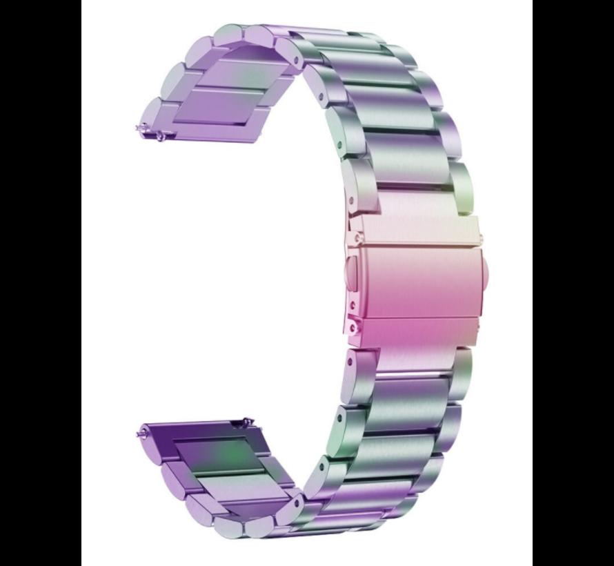 Strap-it® Garmin Vivomove HR stalen band (regenboog)