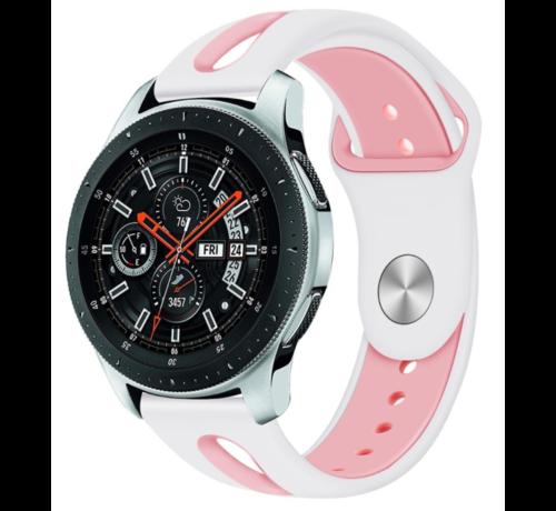 Strap-it® Strap-it® Samsung Galaxy Watch duo sport band 45mm / 46mm (wit/roze)